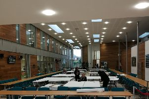Preparations take place at the Aylesbury Vale District Council offices ahead of tonight's election count