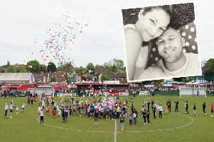 The annual match is held in memory of Nikki Cross, pictured inset with husband Dan