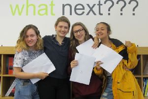 Tring School students celebrating their results