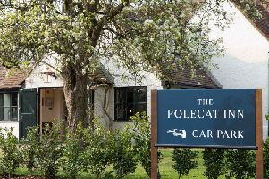 Outside the renovated and uniquely named Polecat Inn