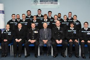 December graduates from the force, Florentina is on the right, second row