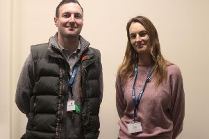 Daniel Howard (community engagement and recovery worker) and Sarsha Donnelly (rough sleeper outreach worker)
