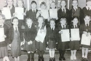Pupils from St Patrick's Convent who were successful at the Feis in 1994