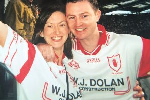 Aileen O'Kane with brother, Eamonn. ''This is a photo of me and my brother Eamonn at the 2003 all Ireland final against Armagh. Such happy memories of an amazing day. I will always treasure this photo as Eamonn died very suddenly on Chrismas eve in 2010. I think about him at every Tyrone game and know he will be looking down cheering on Tyrone on September 2.''