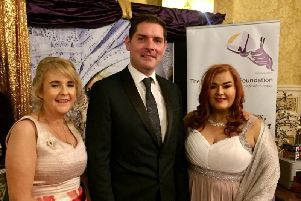 Catherine McBennett, Malachi Cush and Anne Donaghy at the charity's Gala Ball.