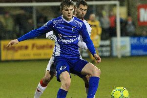 Dungannon Swifts winger Paul McElroy.
