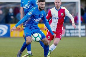 Mark Patton of Dungannon Swifts