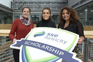Vicky Boden, SSE Airtricity, Caoimhe Magee, UU, and Mia Fahey McCarthy, SSE Airtricity.