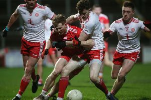 Enda Lynn's 0-2 was not enough to stop Tyrone progressing to the 2019 Dr. McKenna Cup final.