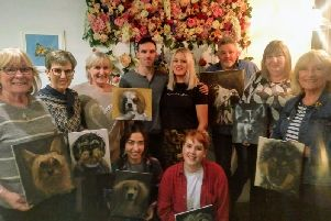 Cafe No. 47 hosted it's first ever two day painting workshop pictured are all those who took part in the event
