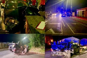 Dramatic pictures following crash.