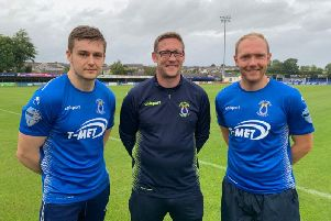 Sean Noble and Ross Redman pictured with Manager, Kris Lindsay.