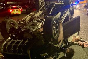The image of the mangled car posted on PSNI Facebook