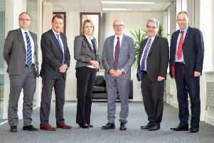 Left to right: Matthew Davies, Nick Abell, Jeanette Whymann (all Wright Hassall), Matt Western, Rhys Jarman, and Pete Maguire (both Wright Hassall).