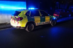 An ambulance, paramedic officer and two police cars attended