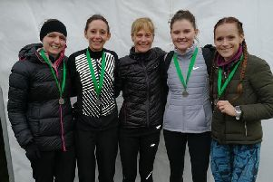 Leamington C&AC's ladies show off their silver rmedals.