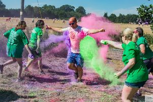 The Macmillan Colour Run in Shropshire. Photo submitted.