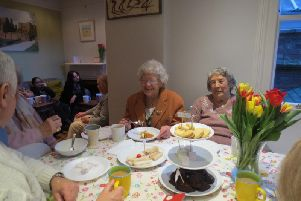 Making friends at Contact the Elderly tea parties