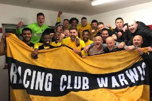 Racing Club Warwick celebrate clinching promotion