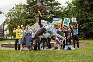 The Art in the Park team celebrate the forthcoming festival.