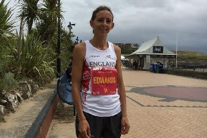Kelly Edwards at the Barry Island 10k.
