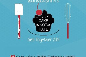 Poster for the Cake Not Hate event in Leamington