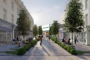 A vision of Bath Street in Leamington developed by Clean Air for Leamington Spa and credited to Wood.