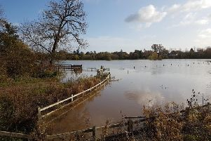 Photo of flooding in Barford  by Cathey Horsfall.