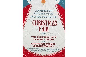 Leamington cricket club ill be holding a Christmas fair. Poster submitted