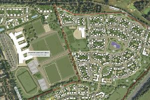 Drawing for the housing development plans in the land east of Kenilworth, Glasshouse Lane