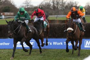 Impulsive Star, far right, has pulled up on his three starts since winning the Classic Chase in 2019.