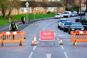 The road closure has now been lifted. Photo by Tristan Potter / SWNS