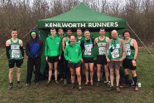 Kenilworth Runners' men at the Midlands Championships. Picture submitted