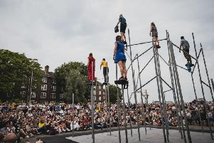 Motionhouse dancers in action.