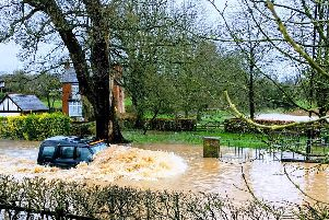 Flood at the ford in Kenilworth (photo by Rob Stanton)