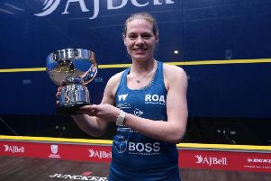 Sarah-Jane Perry lifts the silverware
