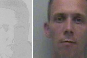 Inmates Lee Fudge, left, and Mark Chatfield, right, who have both absconded from Ford Open Prison SUS-150307-151200001