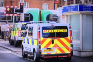 Emergency services at West Worthing railway station SUS-150730-164040001