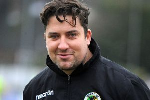 Horsham v Guernsey - manager Dominic Di Paola 07-01-17. Steve Robards  Pic SR1637959 SUS-170701-173121001