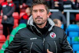 Crawley Town head coach Harry Kewell.'Picture courtesy of Crewe Alexandra SUS-171219-095100002