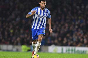Connor Goldson in action against Watford. Picture by Phil Westlake (PW Sporting Photography)