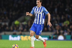 Albion defender Lewis Dunk. Picture by Phil Westlake (PW Sporting Photography)