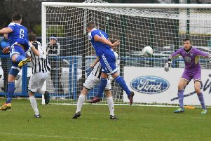 Action from Heath's win against Peacehaven on Saturday. Picture by Grahame Lehkyj