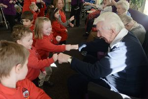Busy Bees children enjoying themselves with Augusta Court residents. All pictures Kate Shemilt ks180122-7