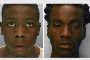 Bridge (left) was convicted of murder, while Onofeghare was convicted of manslaughter by majority verdict. Picture: Sussex Police