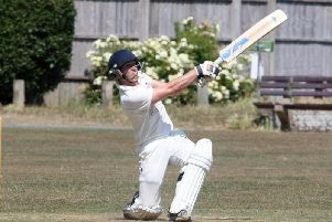 Louis Storey made his first century of the season for East Preston. Picture by Derek Martin