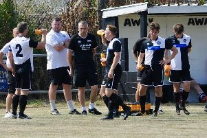 East Preston hosted Badshot Lea in a friendly on Saturday. Picture by Stephen Goodger