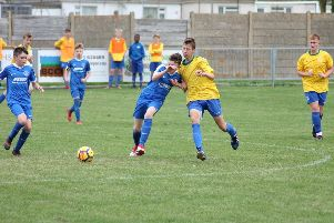 Action from Shoreham under-14s clash with Oxford City