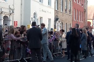 Prince Harry and Meghan Markle in Chichester.