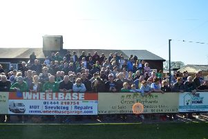 The crowd at the Green Elephants Stadium